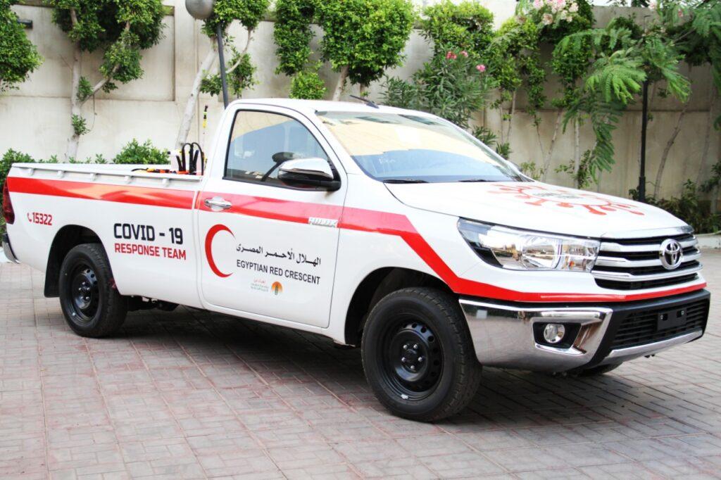 تويوتا إيجيبت تلبي احتياج الهلال الأحمر المصري بـ 18 سيارة استجابة سريعة لمرضى كوفيد-19