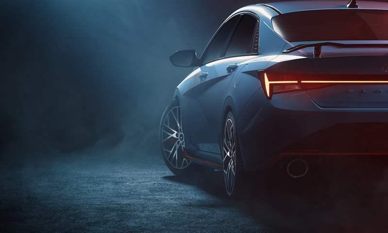 إلنترا N الرياضية 2022 هيونداي تنشر أول صور لسيارة إلنترا N الرياضية 2022